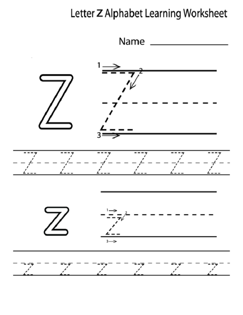 Letter Z Worksheets For Kindergarten | Activity Shelter With Regard To Letter Z Worksheets For Prek