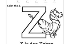 Letter Z Worksheets Free Printable