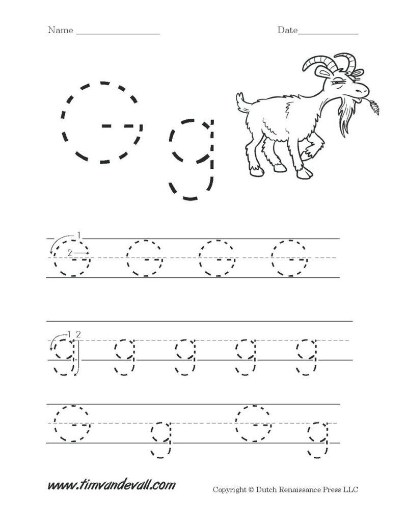 Letters Worksheets For Preschoolers Letter G Worksheets With Letter G Tracing Preschool