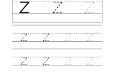 Z Letter Tracing