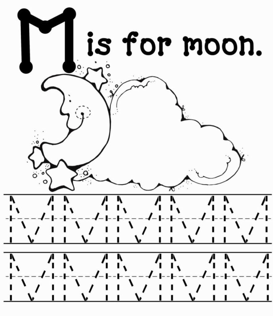 M Coloring Sheets | Letter M Worksheets, Preschool Letter M Throughout Letter M Tracing Worksheets Preschool