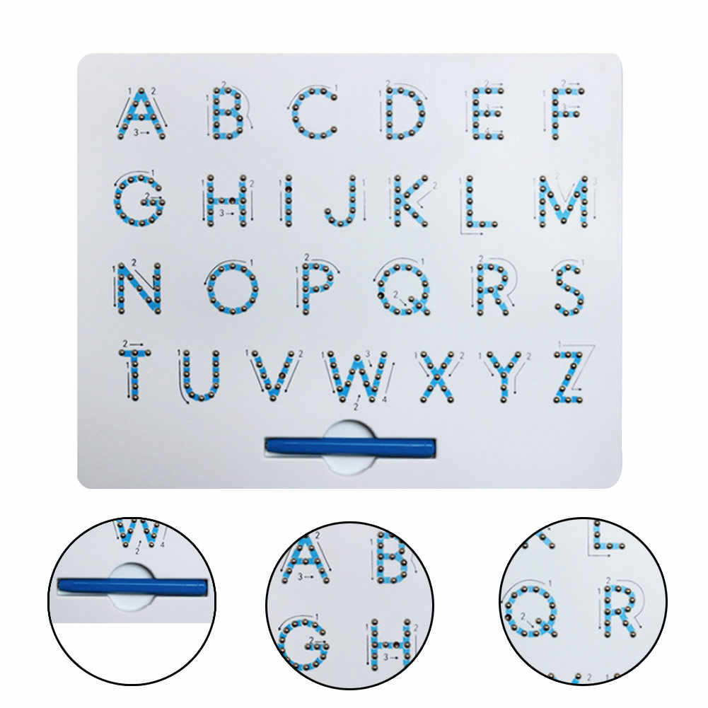 Magnetic Alphabet Letter Tracing Board With Stylus Pen Educational Toy Set  Learning Spelling Writing For Kids in Alphabet Tracing Ruler