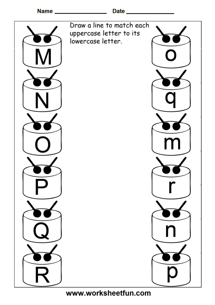 Match Uppercase And Lowercase Letters – 13 Worksheets / Free Pertaining To Alphabet Matching Worksheets For Pre K