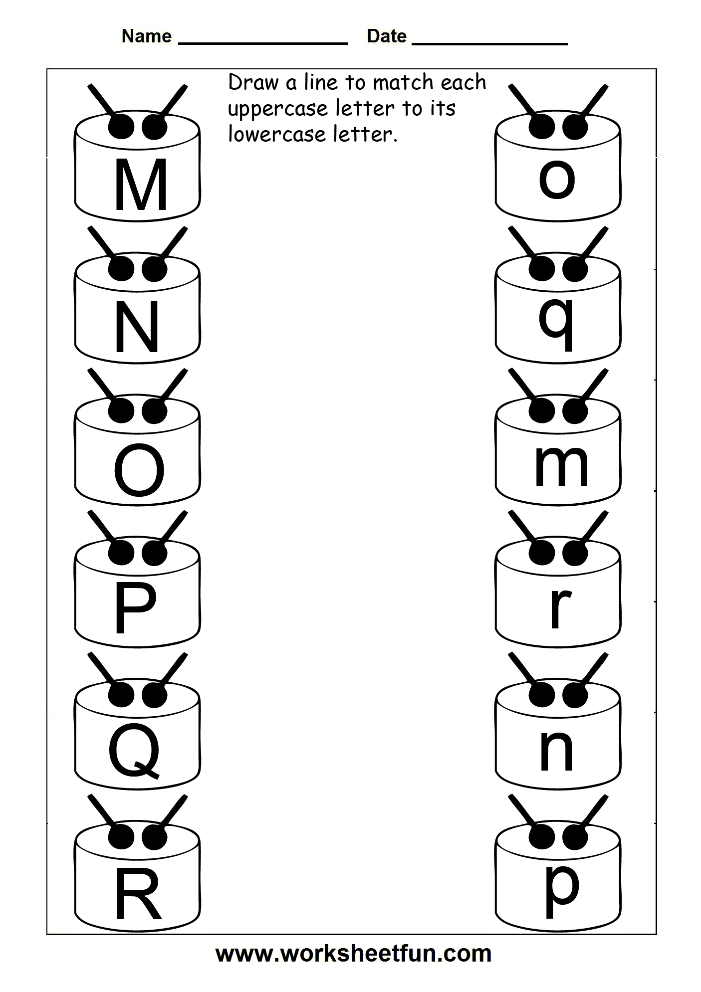 Match Uppercase And Lowercase Letters – 13 Worksheets / Free pertaining to Alphabet Matching Worksheets For Pre-K