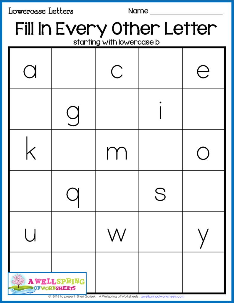 Missing Letters Worksheets | Alphabet Worksheets Preschool Intended For Alphabet Worksheets For 2Nd Grade