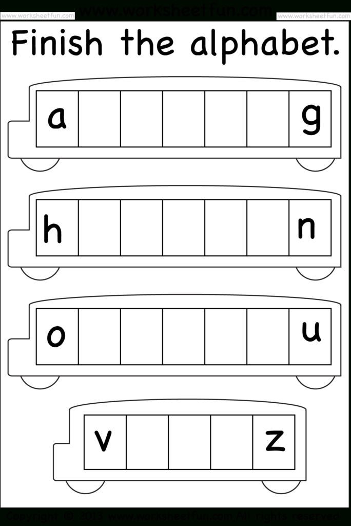 Missing Lowercase Letters – Missing Small Letters With Regard To Letter Worksheets Year 1