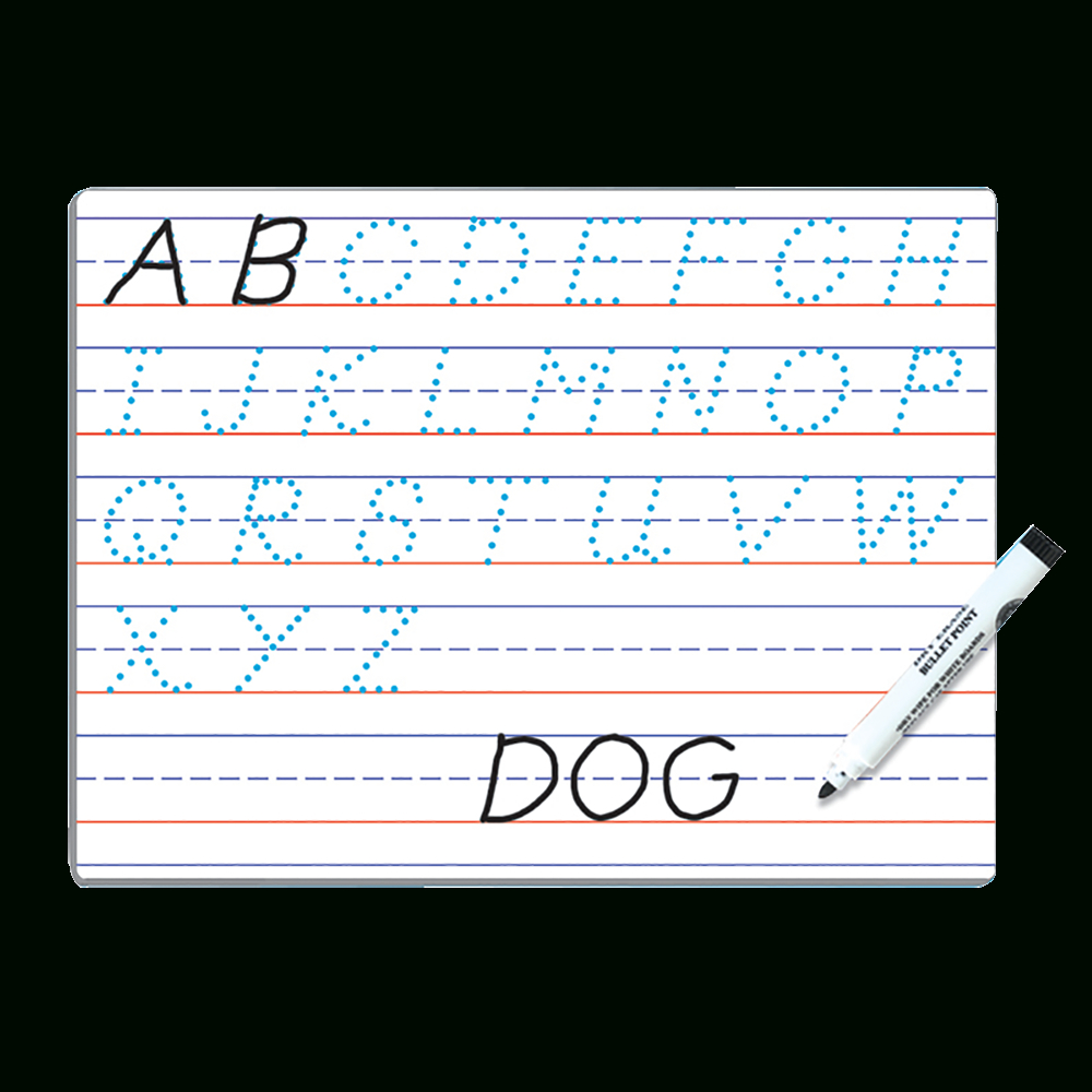 Modern Manuscript Dry Erase Board regarding Letter Tracing Dry Erase Board