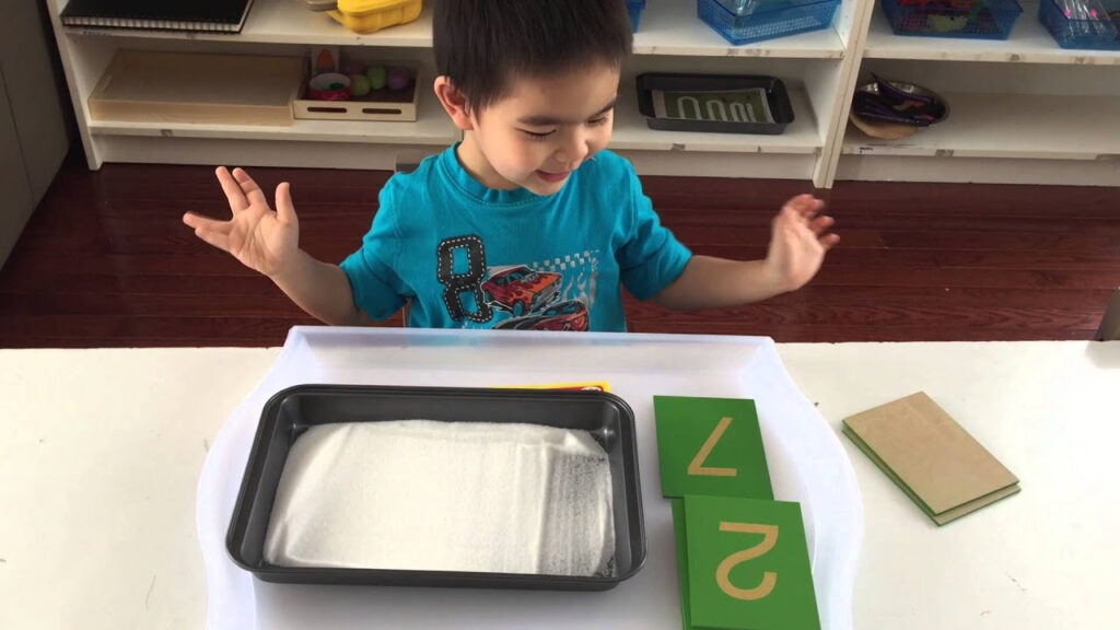 Montessori Sand Tray Pertaining To Letter Tracing In Sand