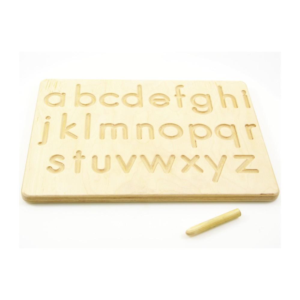 Montessori Toy - Alphabet Tracing Board | Indigovento intended for Alphabet Tracing Board