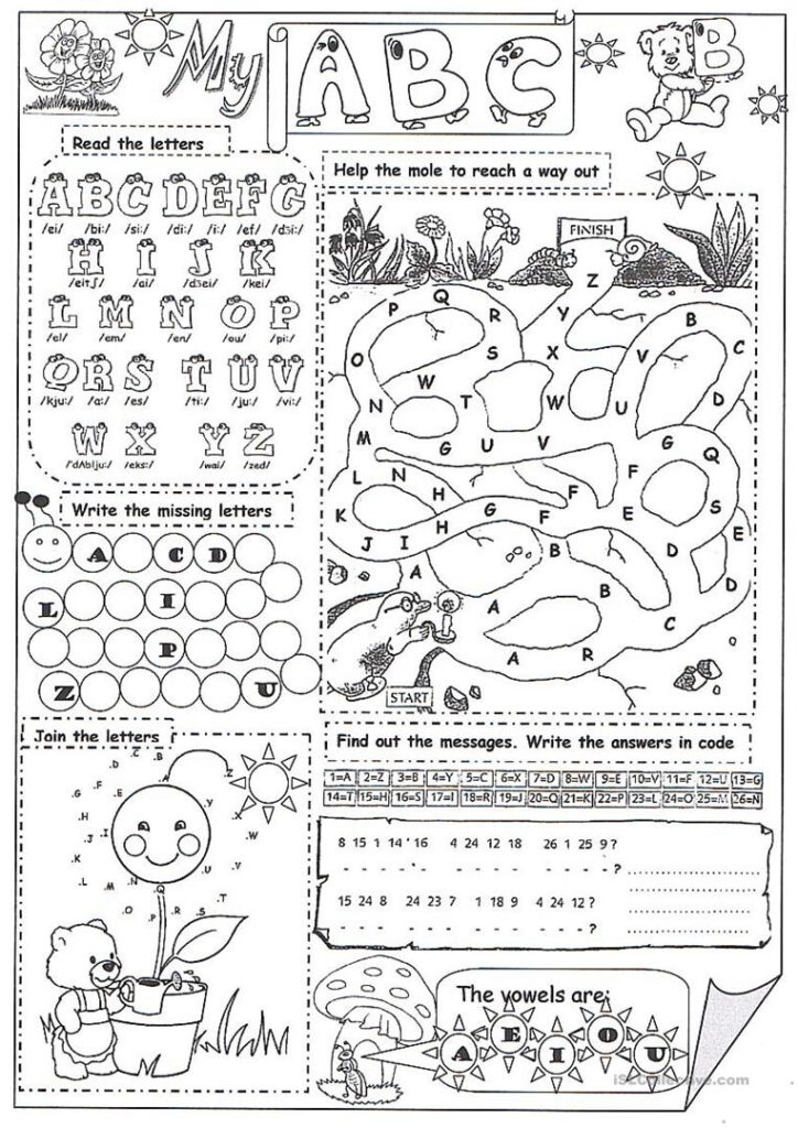 My Abc   English Esl Worksheets For Distance Learning And Pertaining To Alphabet Exercises Elementary