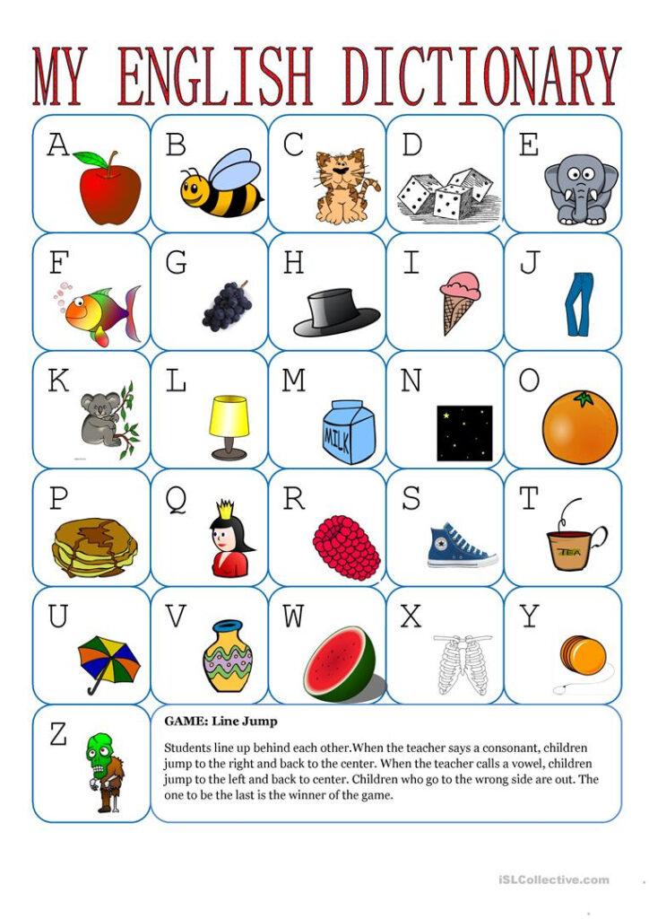 My English Alphabet   English Esl Worksheets For Distance Within Alphabet Vocabulary Worksheets