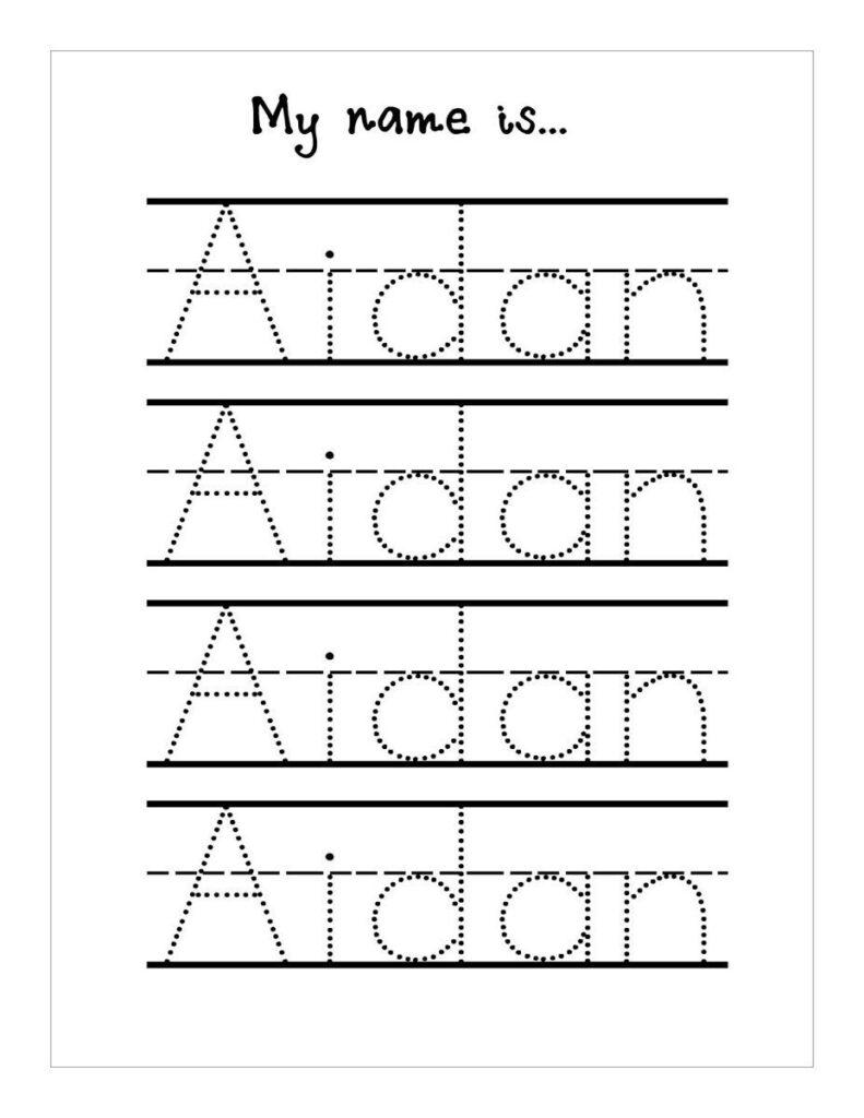 Name Handwriting Worksheets #handwritingworksheets Within Name Tracing Kindergarten