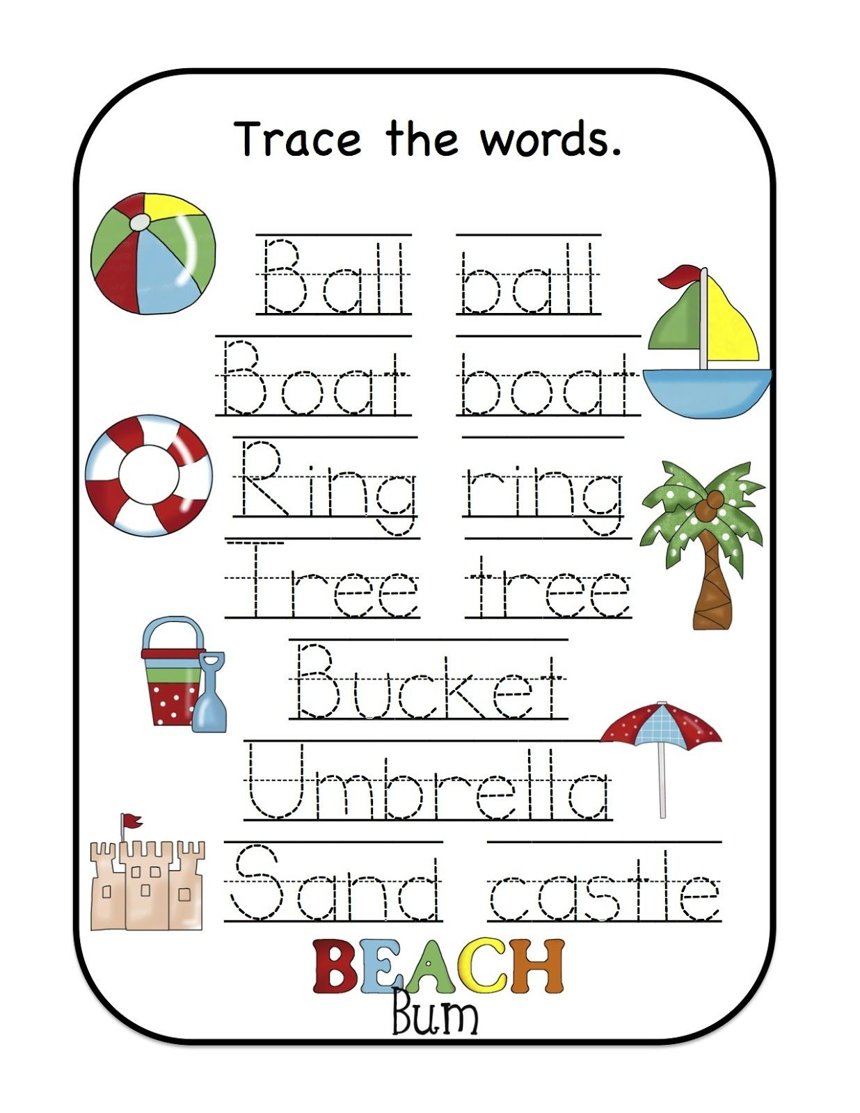 Name Trace Worksheet As Writing Devise | Worksheets For Kids in Pre K Name Tracing Worksheets