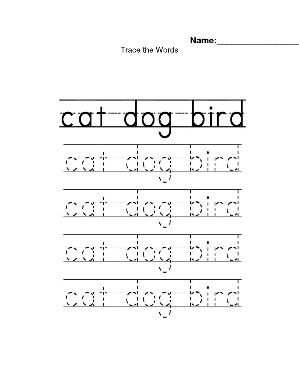 Name Trace Worksheets | Activity Shelter intended for Name Tracing In Word
