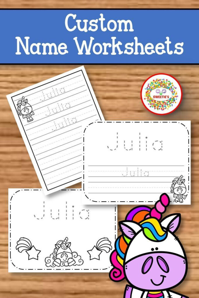 Name Tracing Handwriting Worksheet | Personalized Name With Regard To Name Tracing Colored