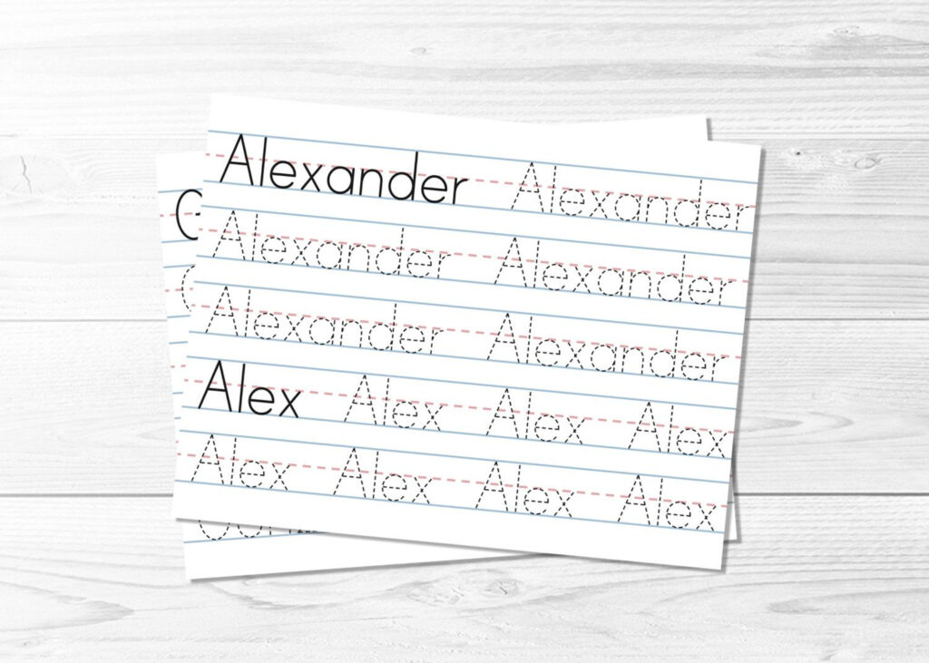 Name Tracing Pages    Learn To Write, Tracing Sheets, Lined Inside Handwriting Name Tracing Sheets