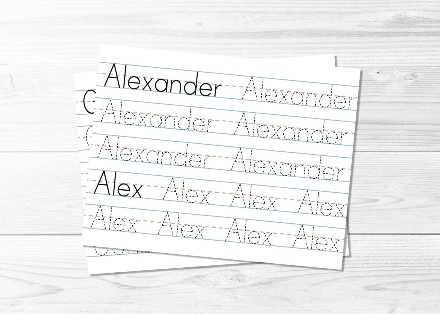 Name Tracing Pages -- Learn To Write, Tracing Sheets, Lined regarding Name Tracing Document