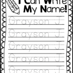 Name Writing Practice   Handwriting Freebie | Kindergarten Throughout Name Tracing Dotted Lines