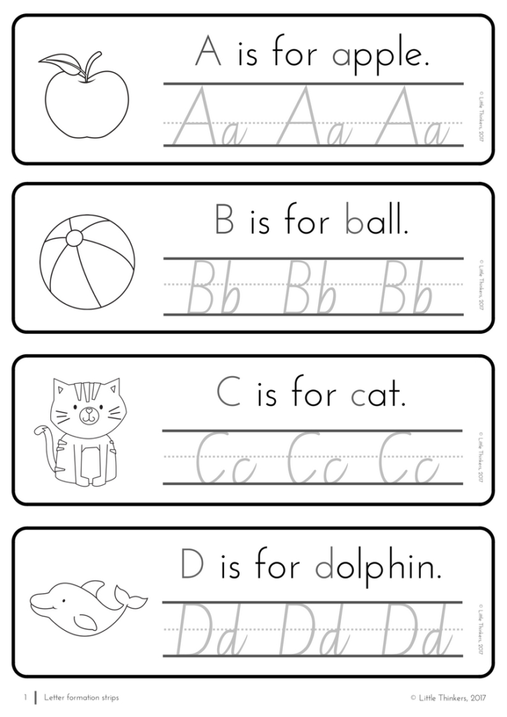 Nsw Linked Cursive Practice Strips | Handwriting Practice In Alphabet Tracing Nsw