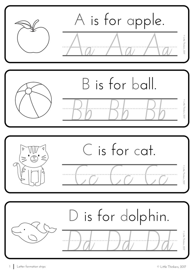 Nsw Linked Cursive Practice Strips | Handwriting Practice in Alphabet Tracing Nsw