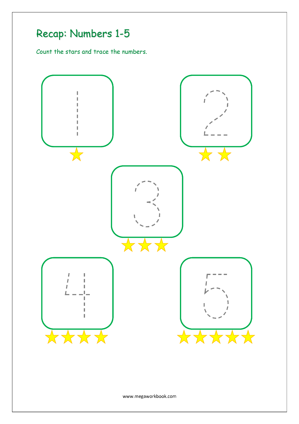 Number Tracing - Tracing Numbers - Number Tracing Worksheets in Tracing Letter 1