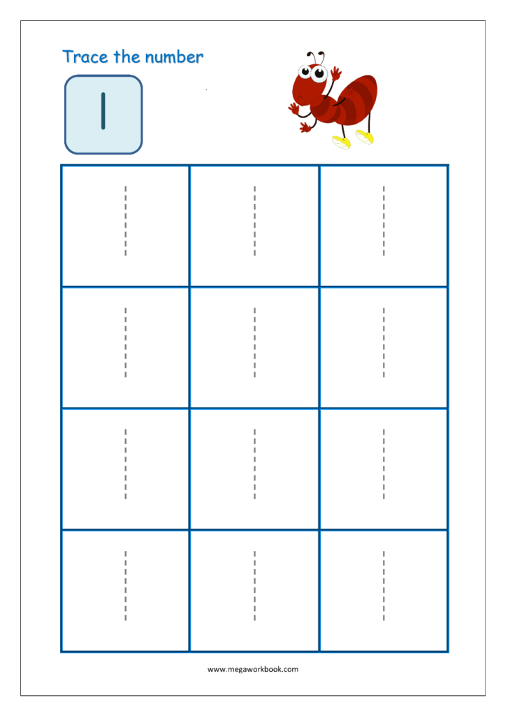 Number Tracing   Tracing Numbers   Number Tracing Worksheets Inside Tracing Letter 1