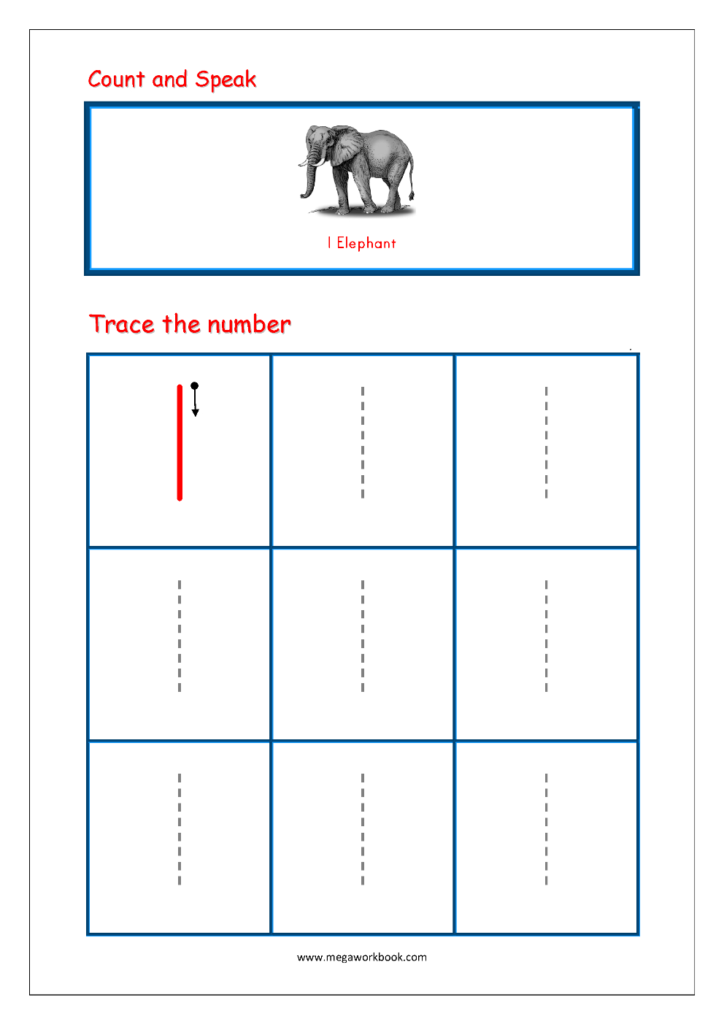 Number Tracing   Tracing Numbers   Number Tracing Worksheets Throughout Tracing Letter 1