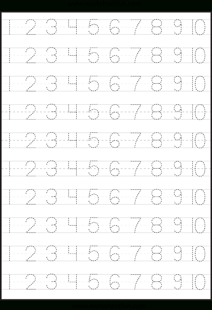 Number Tracing | Tracing Worksheets Preschool, Learning Inside Pre K Alphabet Handwriting Worksheets