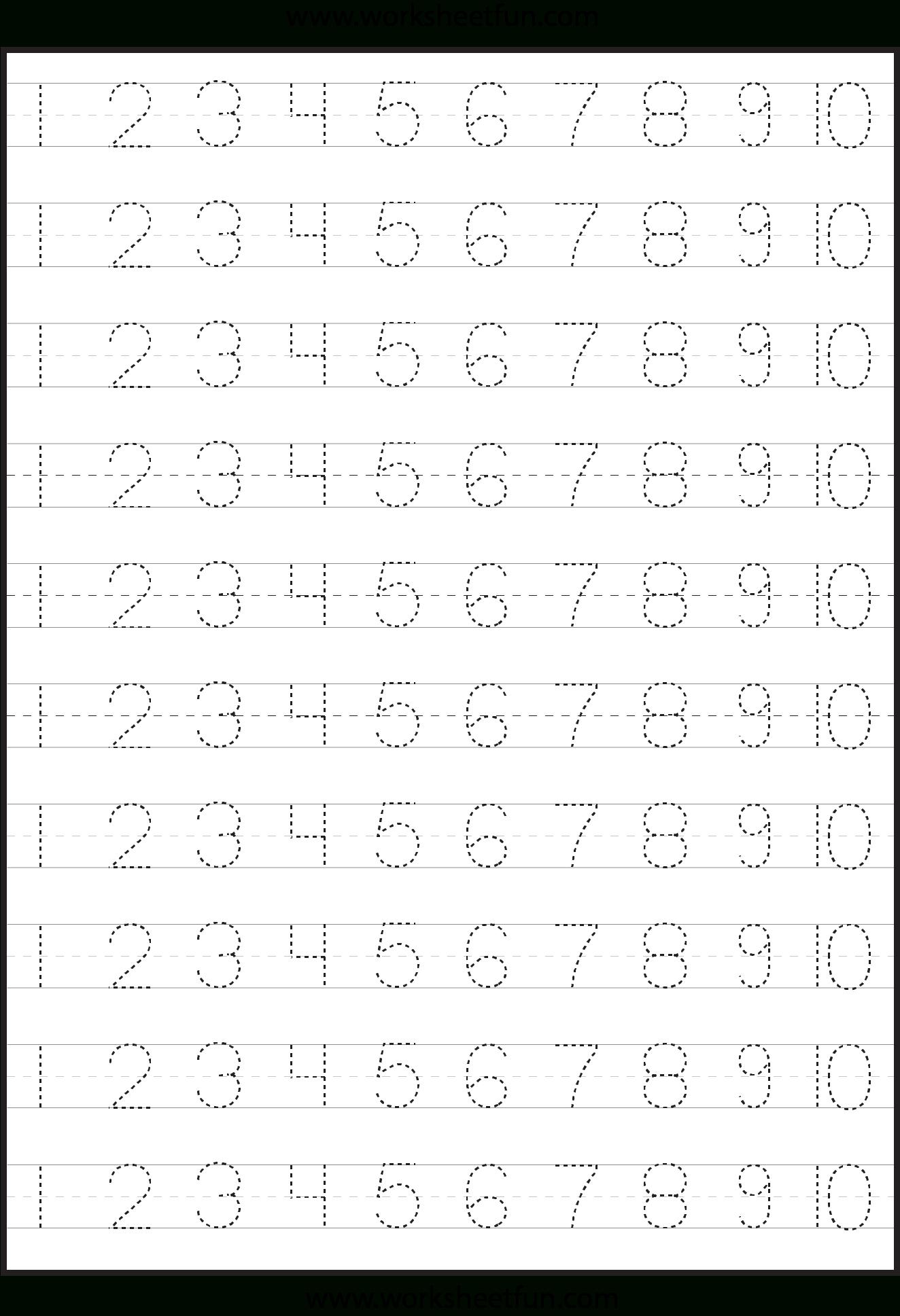 Number Tracing | Tracing Worksheets Preschool, Learning inside Pre-K Alphabet Handwriting Worksheets