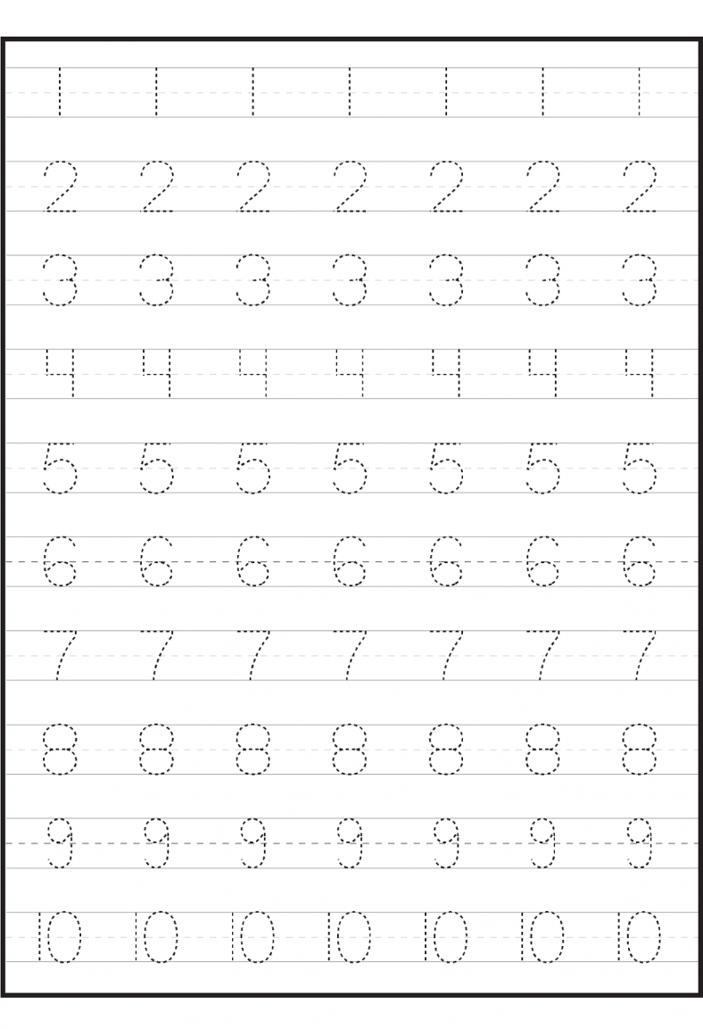 Number Worksheets For Children | Tracing Worksheets pertaining to Abc 123 Tracing For Toddlers
