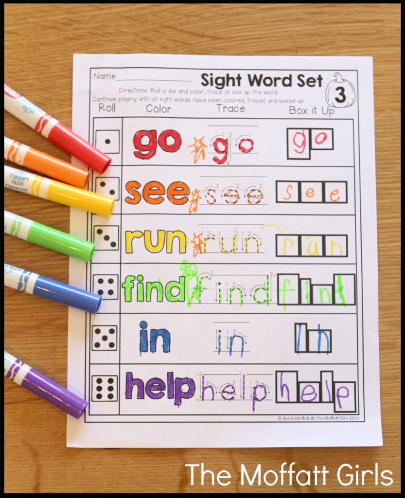 October Fun Filled Learning Resources! | Sight Words For Meaning Of Name Tracing