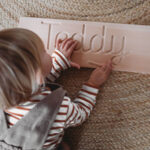 Personalised Wooden Cursive Name Tracing Board Within Name Tracing Board