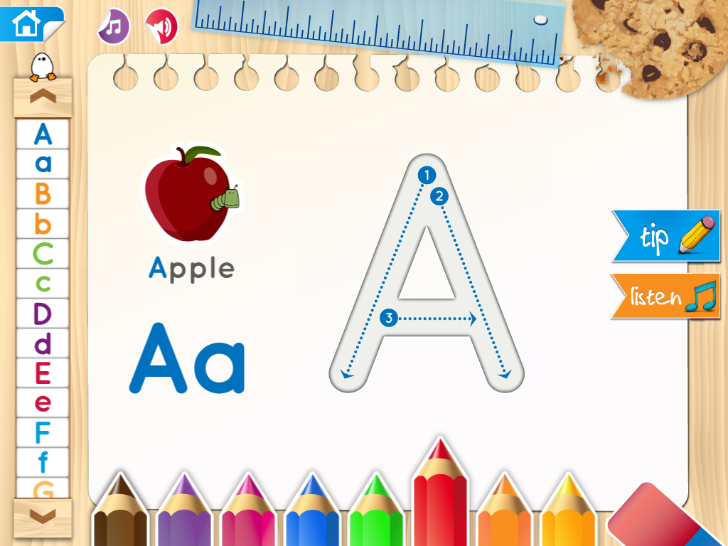 Phitty Letter Trace Ipad Tracing Http://cfc.blacksheepz with Letter Tracing Ruler