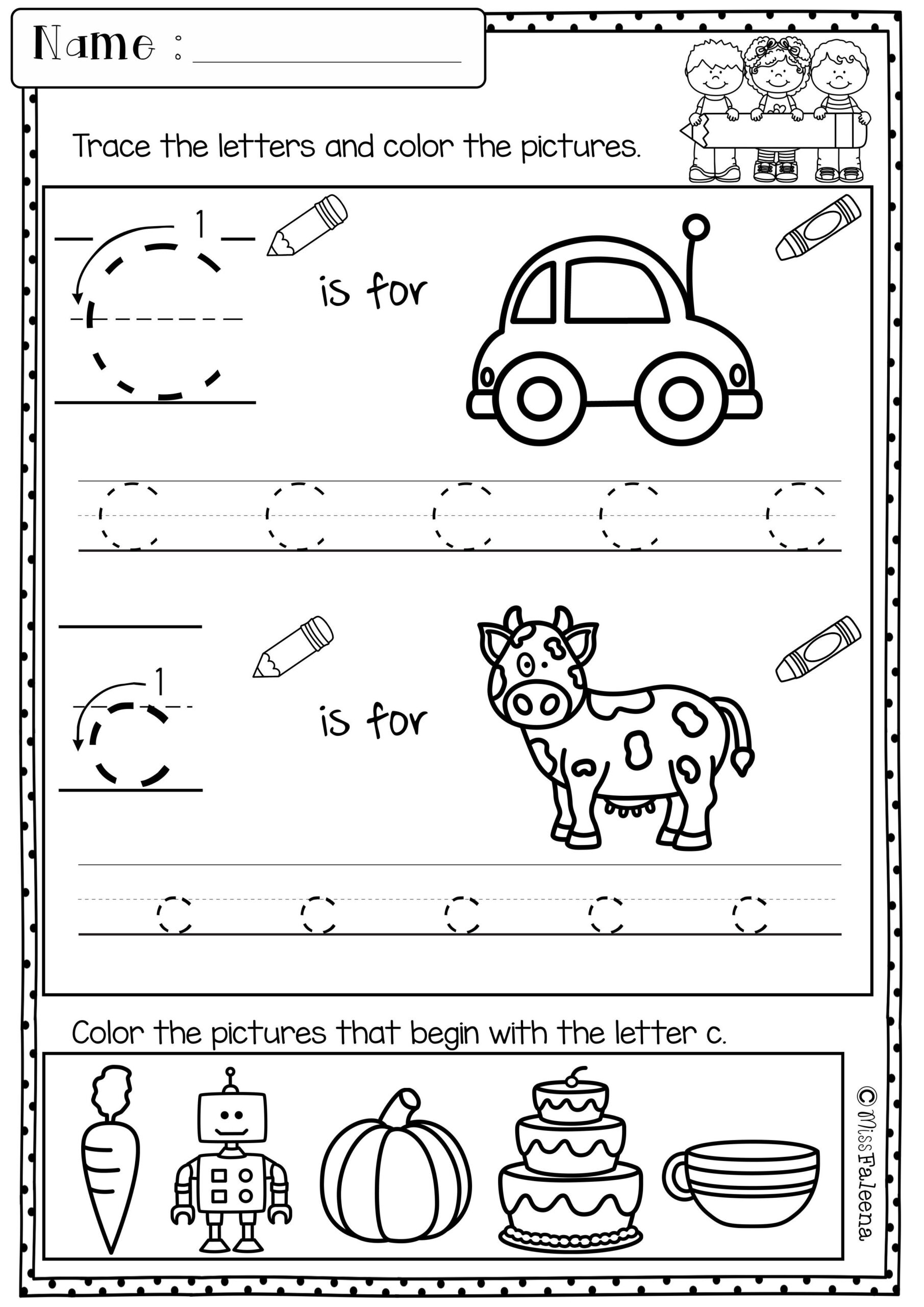 Pin Di Education with regard to Letter C Worksheets For Grade 1