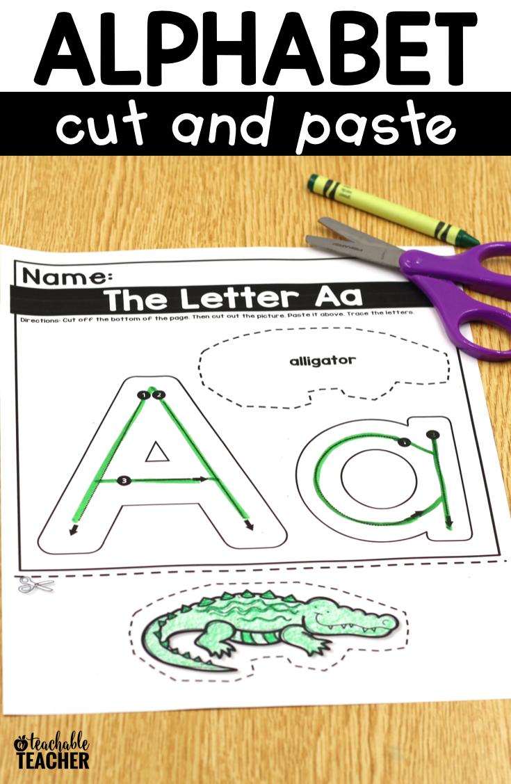 Pin On Alphabet-Preschool regarding Alphabet Cutting Worksheets