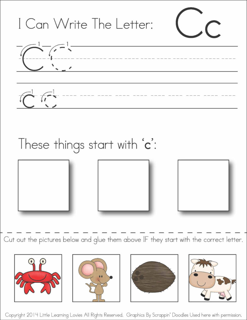 Pin On Awesome Homeschool Ideas In Letter C Worksheets Cut And Paste
