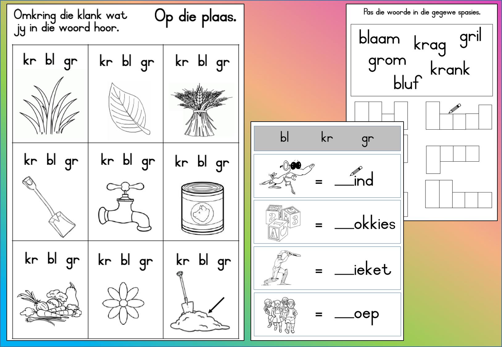 Pin On Grondslagfase Afrikaans Aflaaibare Werkkaarte. within Grade R Alphabet Worksheets South Africa