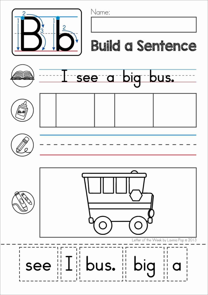 Pin On Homeschooling Ideas With Letter B Worksheets Cut And Paste