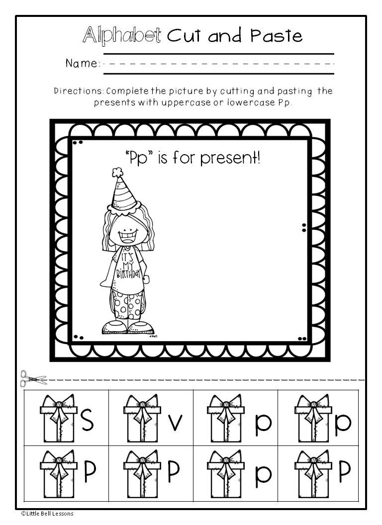 Pin On Letters And Sounds in Letter I Worksheets Cut And Paste