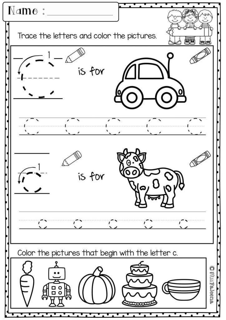 Pin On Preschool Worksheet Throughout Letter C Worksheets For First Grade