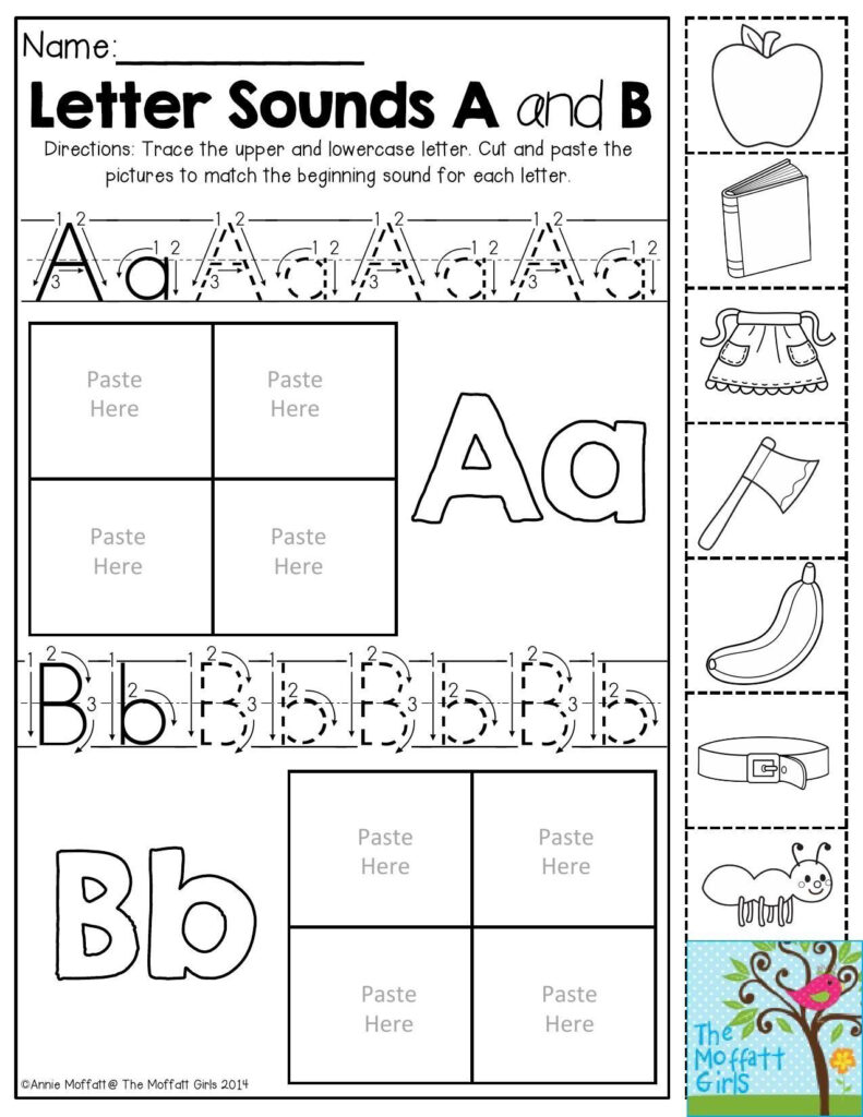Pin On Writing In Letter B Worksheets Cut And Paste