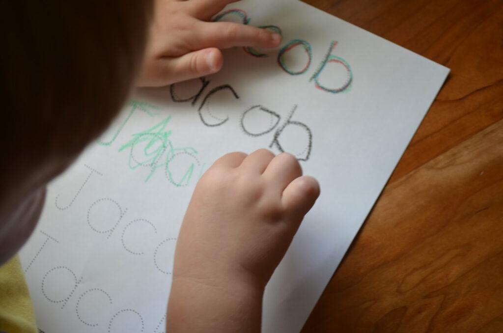 Play To Write  Week 3 Pertaining To Name Tracing Jacob