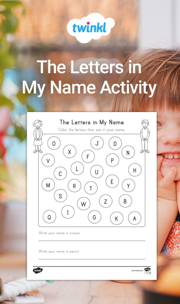 Practice Everyday Spelling With The Letters In My Name With Regard To Name Tracing Twinkl