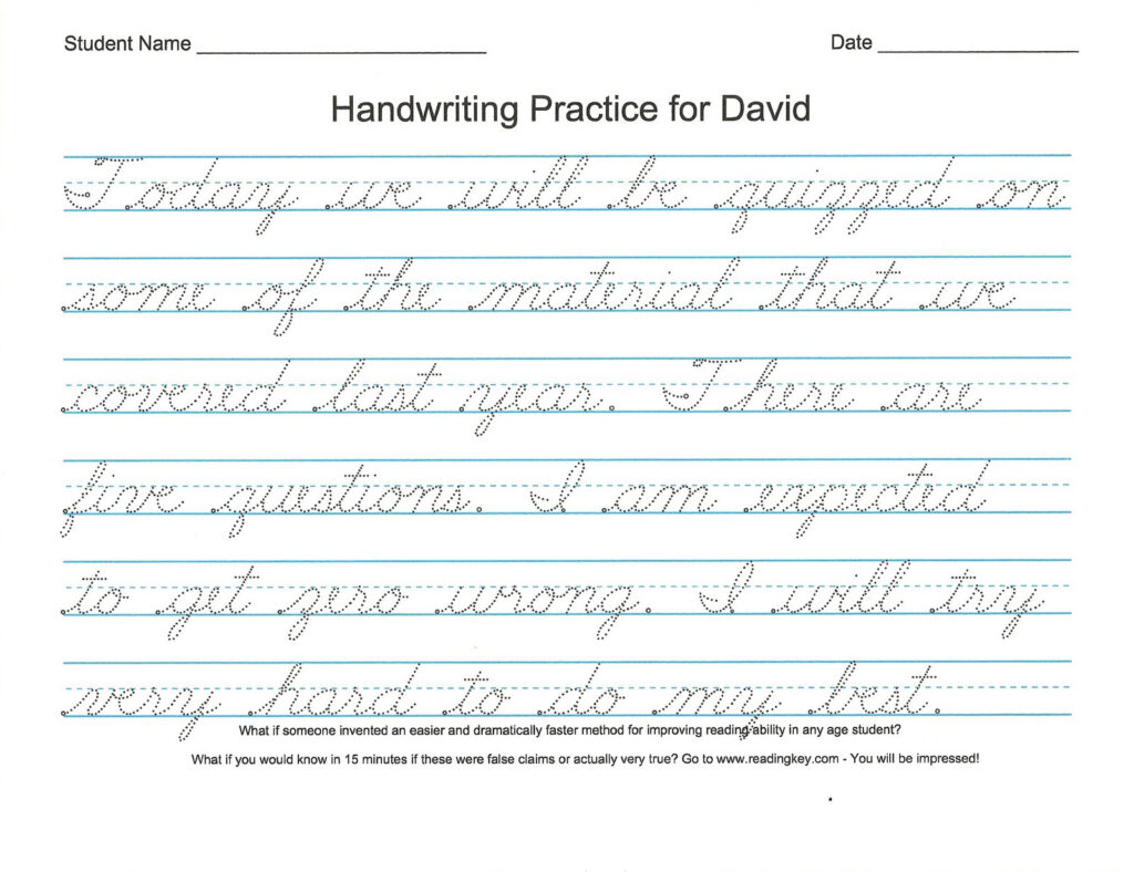 Practice Handwriting Alphabet Worksheet With Regard To Name Tracing Practice Cursive