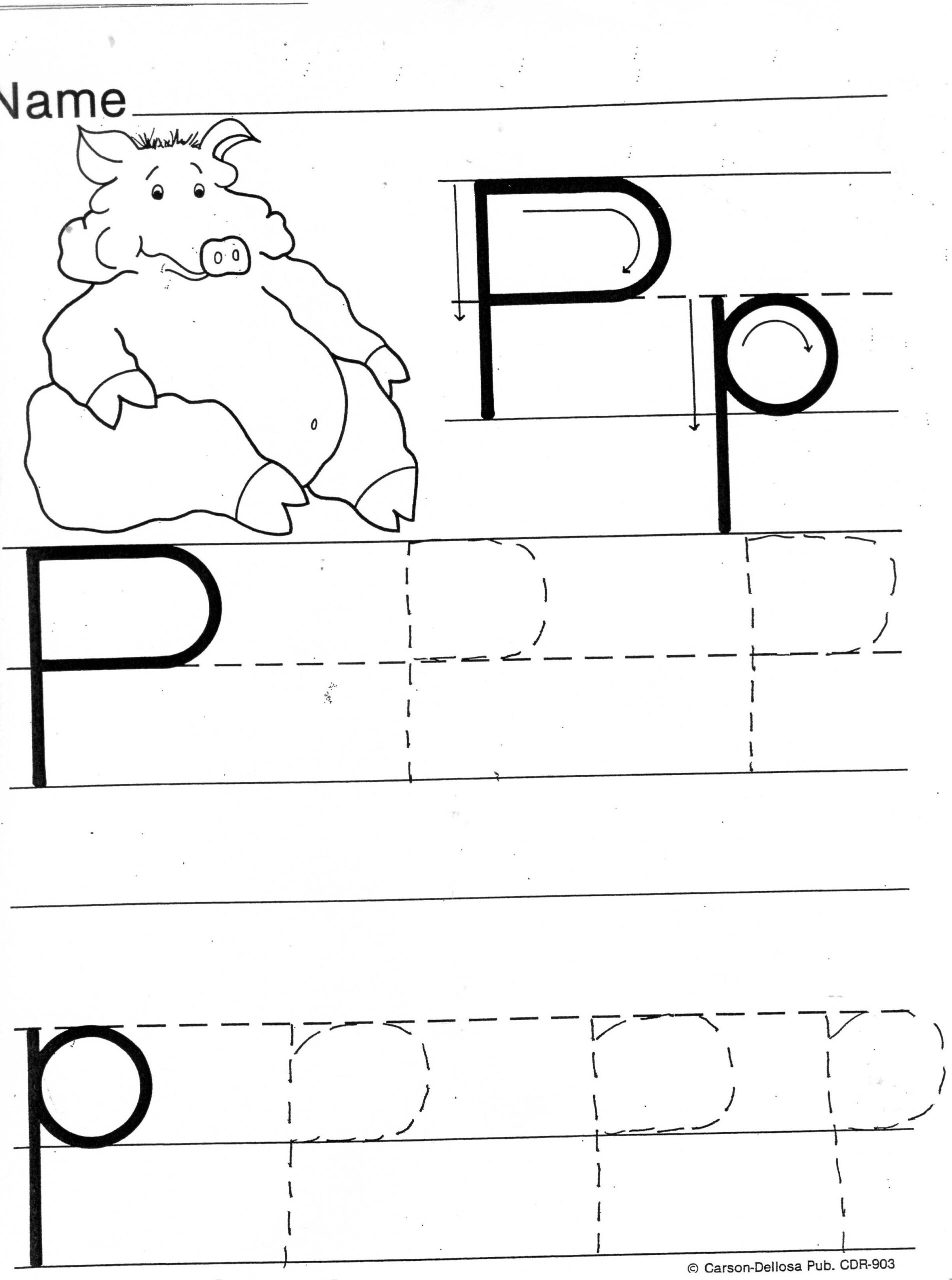 Practice Sheets For Parents throughout Letter P Tracing Page