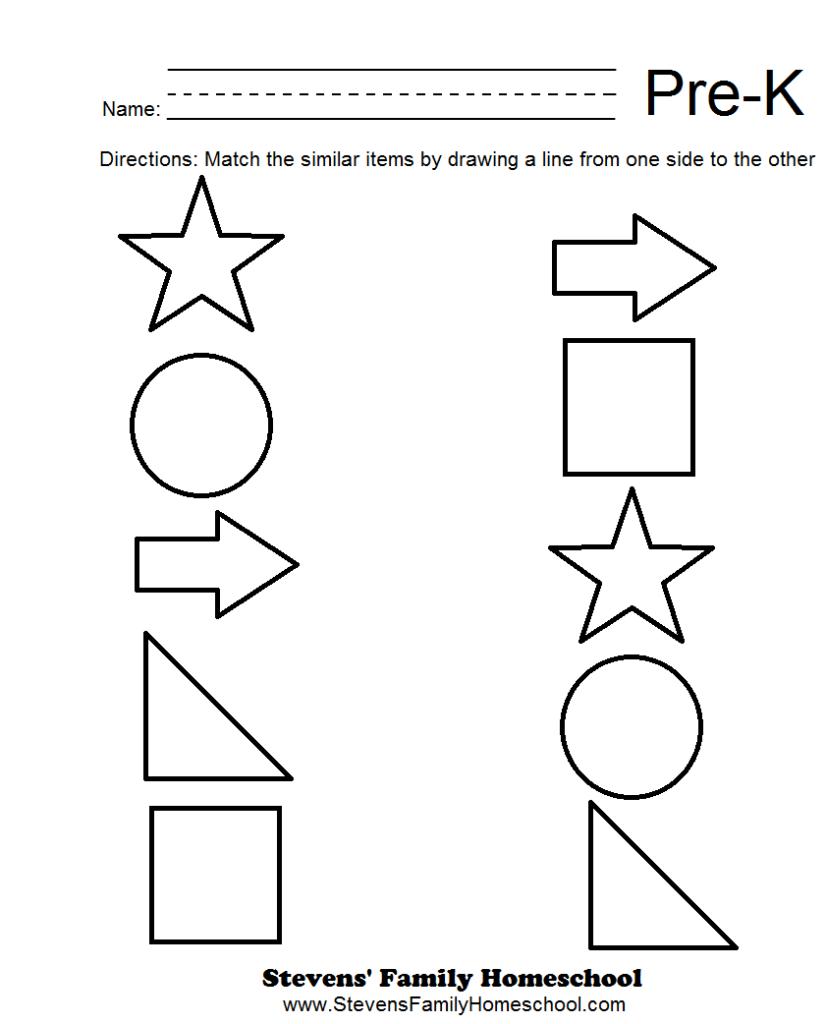 Pre K Matching Worksheets | Pre K Worksheets, Pre K Math With Regard To Alphabet Matching Worksheets For Pre K