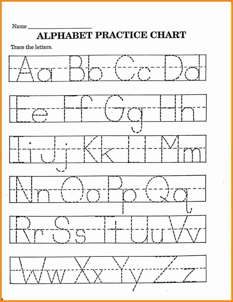 Pre K Worksheets Tracing Letters for Pre-K Alphabet Recognition Worksheets