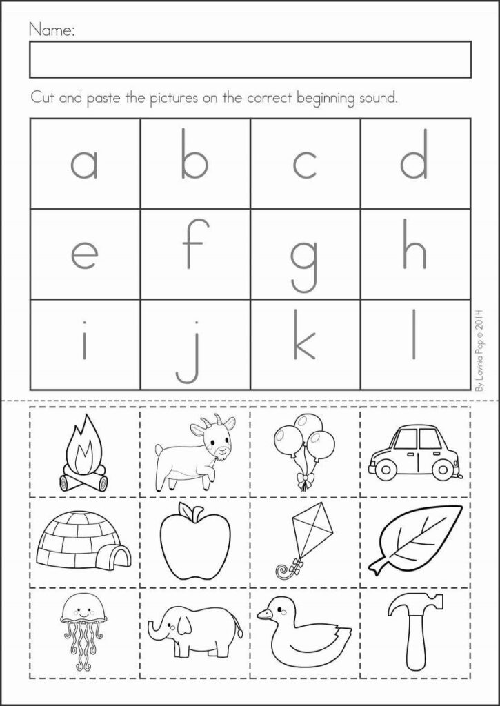 Preschool Cut And Paste Shape Worksheets   Clover Hatunisi Inside Alphabet Cutting Worksheets