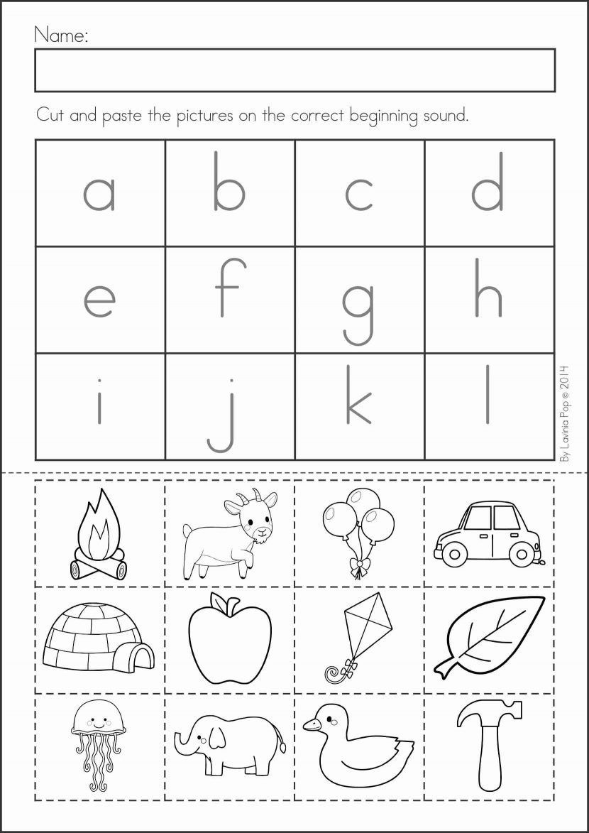 Preschool Cut And Paste Shape Worksheets - Clover Hatunisi inside Alphabet Cutting Worksheets