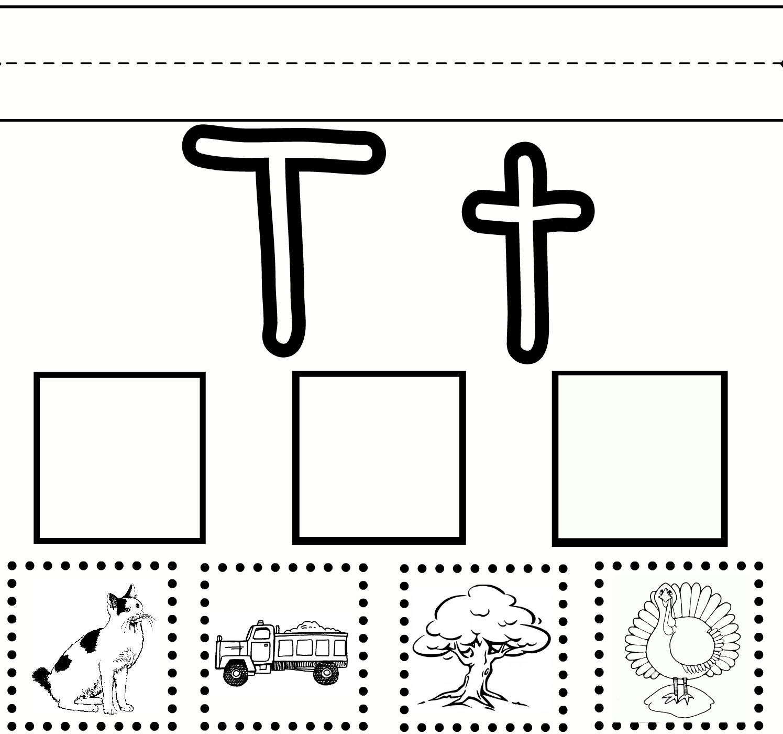 Preschool Learning – Letter T Free Printable Worksheet throughout Letter T Worksheets Free Printables